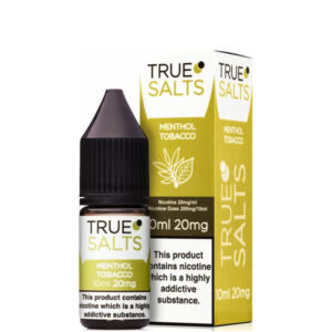 Menthol Tabak 10ml Nic Salt Eliquid Fles Met Doos Door True Salts