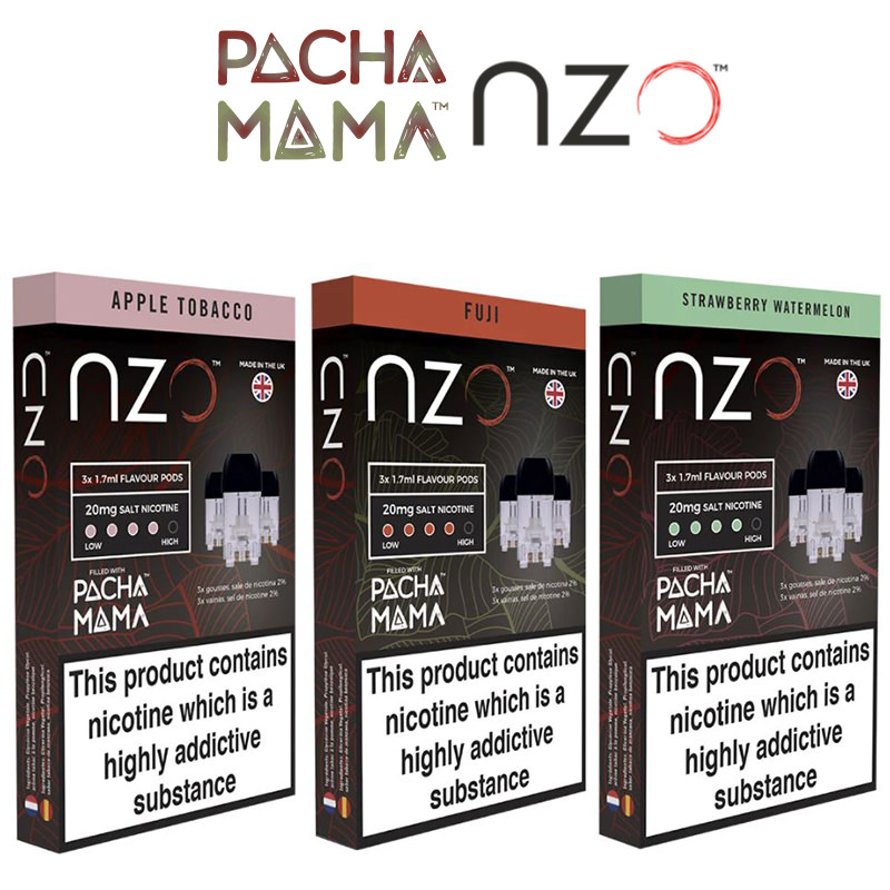 Pacha Mama Vainas precargadas de NZO