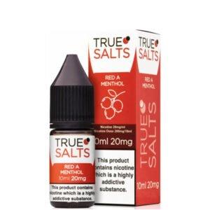 Red A Menthol 10ml Nic Salt Eliquid Fles Met Doos Door True Salts