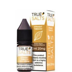 Rechte tabak 10ml Nic Salt Eliquid fles met doos van True Salts
