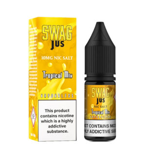 Tropical Mix Nicotine Salt Eliquid 10ml Φιάλη με κουτί By Swag Jus