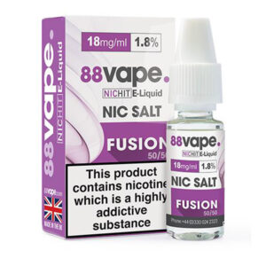88vape Fusion Nic Salt Eliquid 10 ml flaska med låda