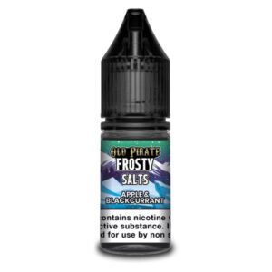 Apple Blackcurrant Nic Salt Eliquid 10ml Bottle By Old Pirate Frosty Salts