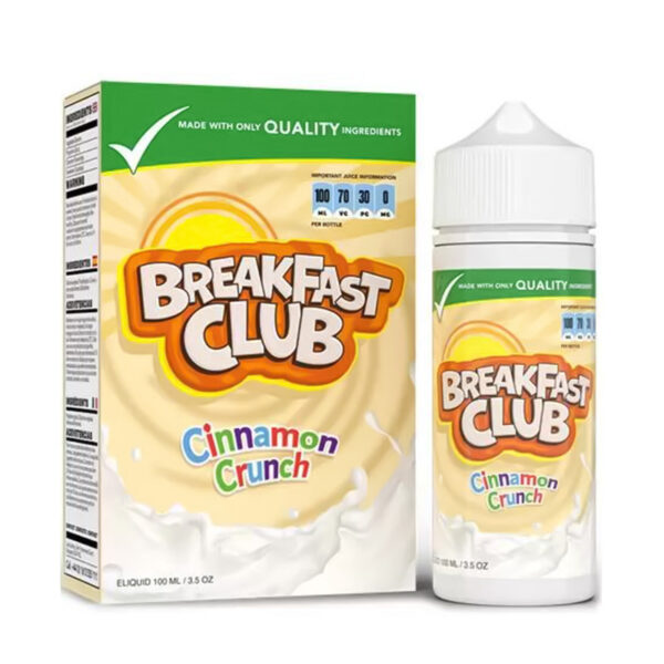 Breakfast Club Cinnamon Crunch 100ml eliquid Shortfill Fles Met Doos