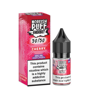 Cherry 10ml 50 50 Eliquid Bottle With Box By Moreish Puff Sherbet 5050
