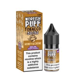Honey Creme 10ml 50 50 Eliquid Bottle Com Box By Moreish Puff Tobacco 5050
