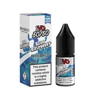 Ivg Blue Raspberry 10ml 50 50 Eliquid Bottle With Box