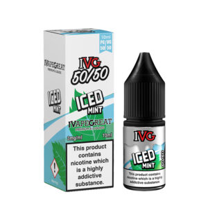 Ivg Iced Mint 10ml 50 50 Eliquid Bottle With Box