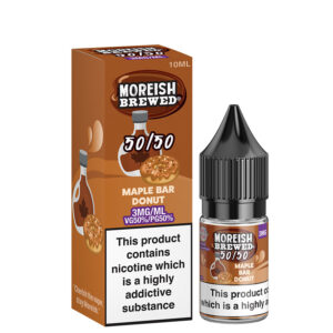 Maple Bar Donut 10ml 50 50 Eliquid Bottle With Box By Moreish Bryggt 5050