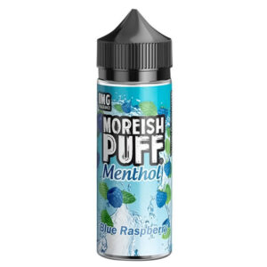 Blå hallon Menthol E-vätska Shortfill By Moreish Puff