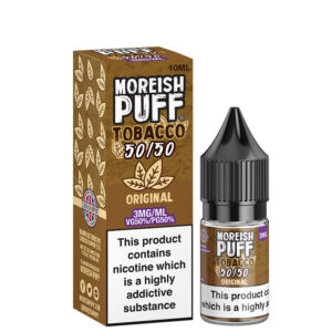 Frasco Original 10ml 50 50 Eliquid Com Caixa Por Moreish Puff Tobacco 5050