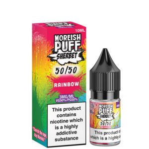 Rainbow 10ml 50 50 Eliquid Bottle With Box By Moreish Puff Sherbet 5050