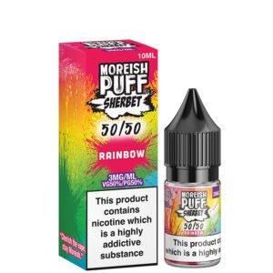 Frasco Rainbow 10ml 50 50 Eliquid com caixa por Moreish Puff Sherbet 5050
