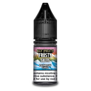Rainbow Chill Nic Salt Eliquid 10ml Bottle By Old Pirate Frosty Salts