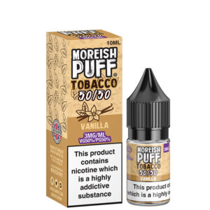 Vanilla 10ml 50 50 Eliquid Bottle With Box By Moreish Puff Tobacco 5050