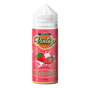 Leche de Fresa Vintage 100ml Eliquid Shortfill Botellas