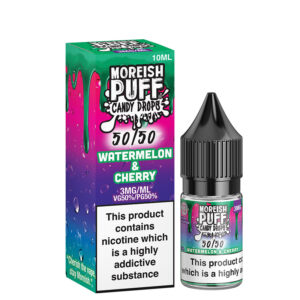 Sandía Cereza 10ml 50 50 Botella Eliquid Con Caja Por Moreish Puff Candy Drops 5050