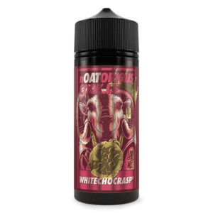 White choc rasp 100ml Eliquid Shortfill Pudele ar Noatorious Cookie Tyv