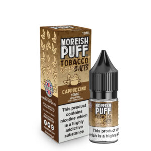 Cappuccino Nic Salt 10ml Eliquid flaska med låda av Moreish Puff