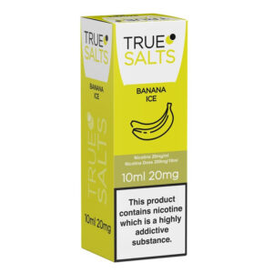 True Salts Banana Ice Nic Salt 10ml Eliquid Box