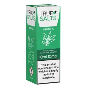 True Salts Menthol Nic Salt 10ml Eliquid Box