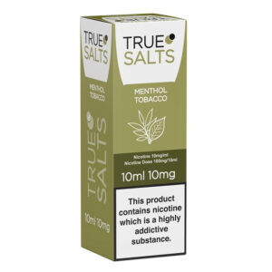 True Salts Menthol Tobacco Nic Salt 10ml Eliquid Box