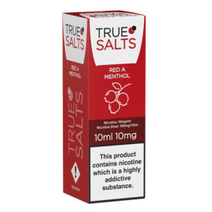 True Salts Red A Mentol Nic Salt 10ml Caixa Eliquid