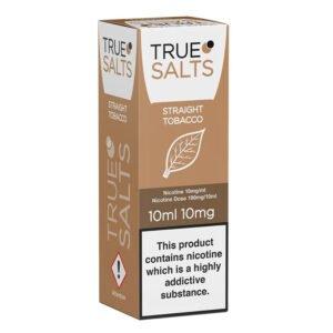 True Salts Straight Tobacco Nic Salt 10ml Eliquid Box
