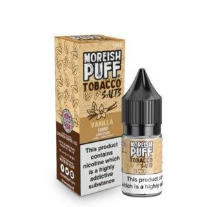 Vanilija tobak Nic Salt 10 ml tekoča steklenička s škatlo Moreish puff