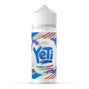 yeti Bubblegum Candy Cane 100 ml Eliquid Shortfill Av Yeti Candy Cane