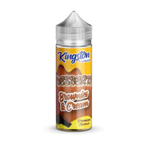 Kingston Desserts Brownies And Cream 100ml Eliquid Shortfill Flaska