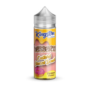 Sobremesas Kingston Custard Donut Vitrificado 100ml Eliquid Shortfill Frasco