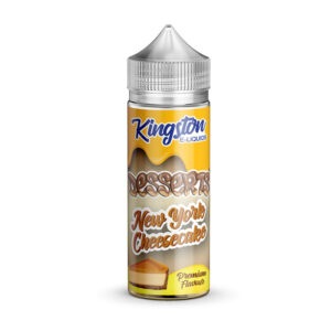 Kingston Desserts New York Cheesecake 100ml Eliquid Shortfill Flaska