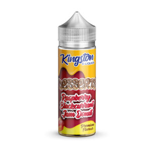 Kingston Desserts Hindbær Solbær Jam Donut 100ml Eliquid Shortfill Flaske