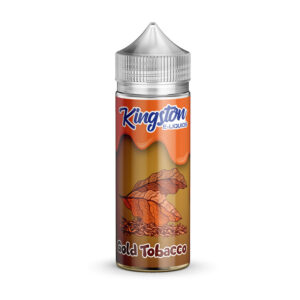 Kingston Gold Tobacco 100ml Eliquid Shortfill Frasco
