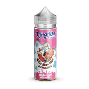 Kingston Silly Moo Bubblegum Milkshake 100 ml flydende Shortfill Flaske