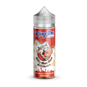 Kingston Silly Moo Strawberry Cheesecake Milkshake 100ml Eliquid Shortfill Flaska