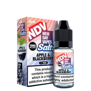 New Day Vapes Apple Blackberry 10 ml Nic Salt Eliquid-flaska med låda