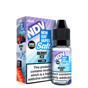 New Day Vapes Garrafa de Berry Ice 10ml Nic Salt Eliquid com caixa