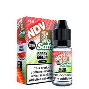 New Day Vapes Berry Melon 10ml Nic Salt Eliquid flaska med låda