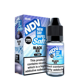 New Day Vapes Garrafa Black Ice 10ml Nic Salt Eliquid com caixa