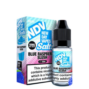 New Day Vapes Blue Raspberry Slush 10 ml tekoča steklenička Nic Salt s škatlo