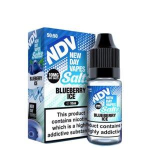 New Day Vapes Borovnica Ice 10 ml steklenica s tekočino Nic Salt With Box