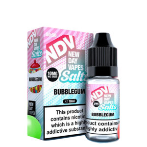 New Day Vapes Bubblegum 10ml Nic Salt Eliquid flaska með kassa