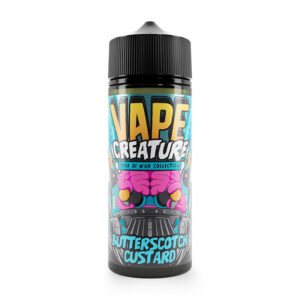 Vape Creature Butterscotch Custard 100ml Eliquid Shortfill Flaska