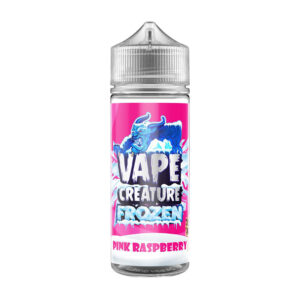 Vape Creature Frozen Pink Raspberry 100ml Eliquid Shortfill Bottle