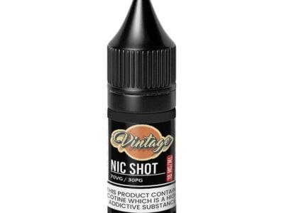 Inyección de nicotina vintage 70 30 Vg 18 mg