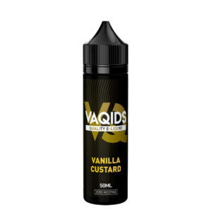 Vaqids Vanilla Custard 50ml Eliquid Shortfill Frasco