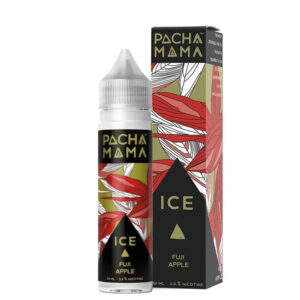 Pacha Mama Fuji Apple Ice 50ml Eliquid Shortfill Garrafa com caixa de pó de giz Charlies