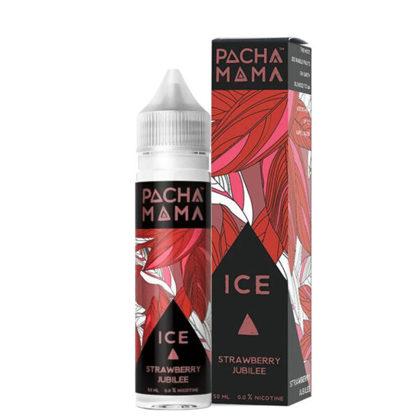 Pacha Mama Strawberry Jubilee Ice 50ml Eliquid Shortfill Flaske med æske af Charlies Chalk Dust